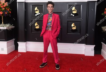 Stock Image of Jacob Collier arrives at the 63rd annual Grammy Awards at the Los Angeles Convention Center on March 14 with both live and prerecorded segments