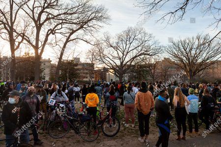 Editorial photo of Sing Her Song vigil for Breonna Taylor, Washington DC, USA - 13 Mar 2021