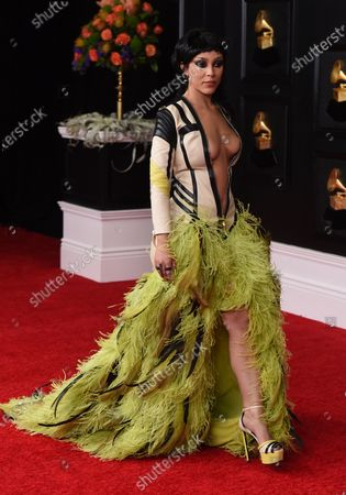 Editorial picture of 63rd Annual Grammy Awards - Arrivals, Los Angeles, United States - 14 Mar 2021