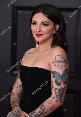 Julia Michaels arrives at the 63rd annual Grammy Awards at the Los Angeles Convention Center on