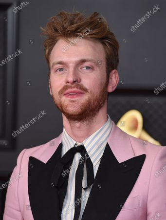 Finneas O'Connell arrives at the 63rd annual Grammy Awards at the Los Angeles Convention Center on March 14 with both live and prerecorded segments