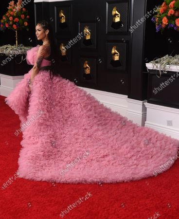 Jhene Aiko arrives at the 63rd annual Grammy Awards at the Los Angeles Convention Center on March 14 with both live and prerecorded segments
