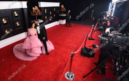 Editorial image of 63rd Annual Grammy Awards - Arrivals, Los Angeles, United States - 14 Mar 2021