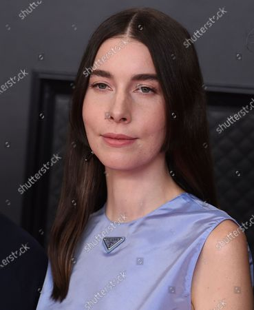 Danielle Haim arrives at the 63rd annual Grammy Awards at the Los Angeles Convention Center