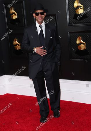 Stock Photo of Jimmy Jam on the red carpet at the 63rd Annual Grammy Awards, at the Los Angeles Convention Center