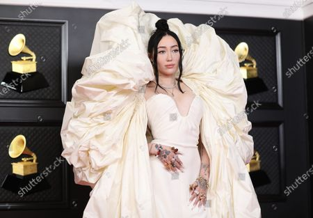 Noah Cyrus on the red carpet at the 63rd Annual Grammy Awards, at the Los Angeles Convention Center