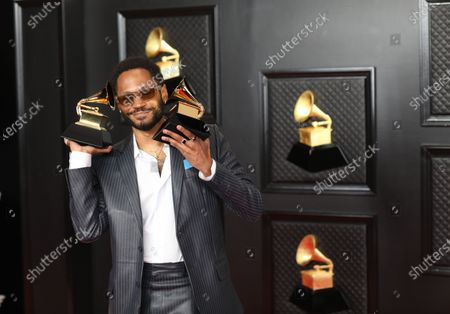 Kaytranada won the Grammy award for Best Dance/Electronic Album at the 2021 Grammy Awards. He is on the red carpet at the 63rd Annual Grammy Awards, at the Los Angeles Convention Center