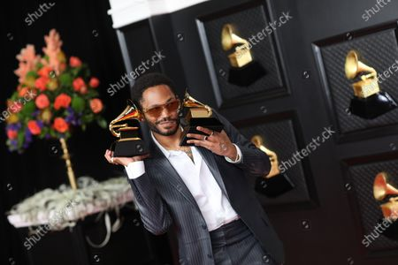Kaytranada won the Grammy award for Best Dance/Electronic Album at the 2021 Grammy Awards. He is on the red carpet at the 63rd Annual Grammy Awards, at the Los Angeles Convention Center. (Jay L. Clendenin / Los Angeles
