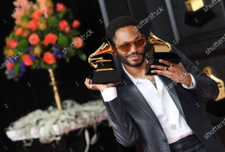 Stock Photo of Kaytranada won the Grammy award for Best Dance/Electronic Album at the 2021 Grammy Awards. He is on the red carpet at the 63rd Annual Grammy Awards, at the Los Angeles Convention Center. (Jay L. Clendenin / Los Angeles