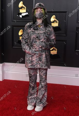 Billie Eilish arrives at the 63rd annual Grammy Awards at the Los Angeles Convention Center on March 14 with both live and prerecorded segments