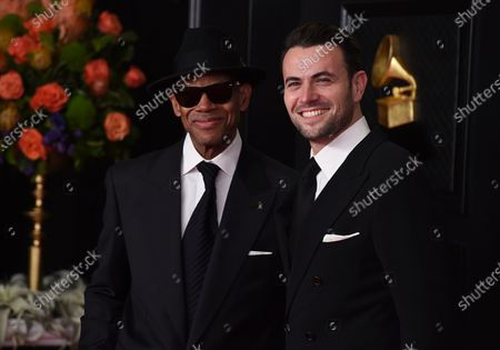 Jimmy Jam, left, and Ben Winston arrive at the 63rd annual Grammy Awards at the Los Angeles Convention Center