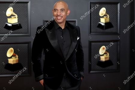 Harvey Mason, Jr., Chair Of The Board And Interim President/CEO of the Recording Academy on the red carpet at the 63rd Annual Grammy Awards, at the Los Angeles Convention Center, in downtown Los Angeles, CA, Sunday, Mar. 14, 2021. March 14 with both live and prerecorded segments