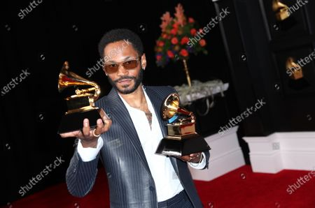 Kaytranada who won the award for Best Dance Performance and Best Dance Album at on the red carpet at the 63rd Annual Grammy Awards, at the Los Angeles Convention Center, in downtown Los Angeles, CA
