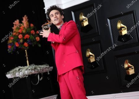 Editorial picture of Musical talent pose on the red carpet at the 63rd Annual Grammy Awards show in downtown Los Angeles, Los Angeles Convention Center, Los Angeles, California, United States - 14 Mar 2021