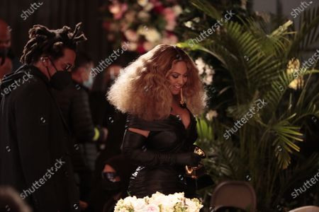 Beyonce Knowles makes History with the Best E&B Performance winning 28 Grammys, more that any female or male performer, accepts the award for Best R&B Performance at the 63rd Grammy Award outside Staples Center