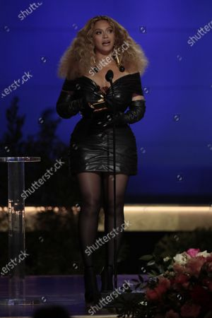 Editorial picture of 63rd Grammy Awards at Staples Center, LA Convention Center, Los Angeles, California, United States - 14 Mar 2021