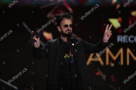 Ringo Starr presented Record of the Year at the 63rd Grammy Award outside Staples Center