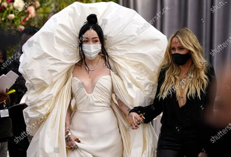 Noah Cyrus and her mother Letitia Cyrus attend the 63rd annual Grammy Awards at the Los Angeles Convention Center on March 14 with both live and prerecorded segments