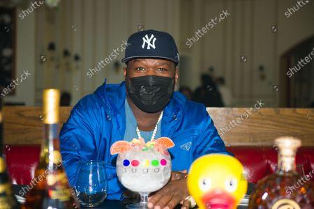 Stock Photo of 50 Cent at Sugar Factory Atlanta