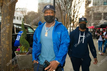 Stock Picture of 50 Cent arrives at Sugar Factory Atlanta