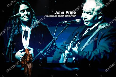 Brandi Carlile perform for a pre-taped segment for the 63rd Grammys at the LA Convention Center during the In Memoriam segment with John Prine.
