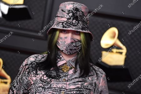 Billie Eilish arrives at the 63rd annual Grammy Awards at the Los Angeles Convention Center on