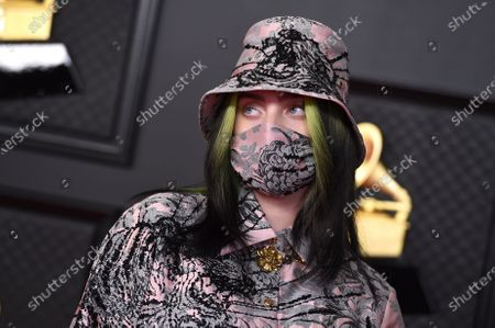 Stock Image of Billie Eilish arrives at the 63rd annual Grammy Awards at the Los Angeles Convention Center on