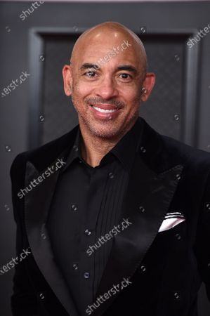 Stock Picture of Harvey Mason Jr.. arrives at the 63rd annual Grammy Awards at the Los Angeles Convention Center