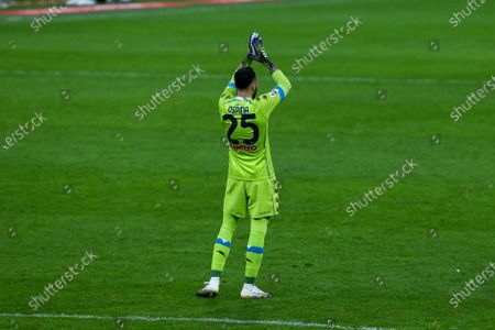 David Ospina of SSC Napoli during the Serie A football match between AC Milan and SSC Napoli at Giuseppe Meazza Stadium on March 14, 2021 in Milan, Italy.Milan lost 0-1 over Napoli.