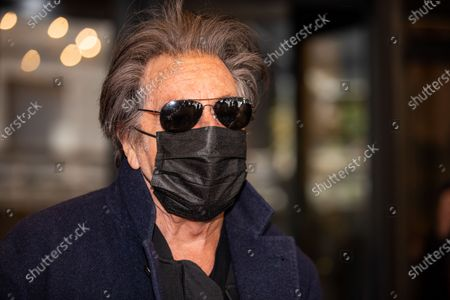 Al Pacino leaves his hotel before the House Of Gucci shooting