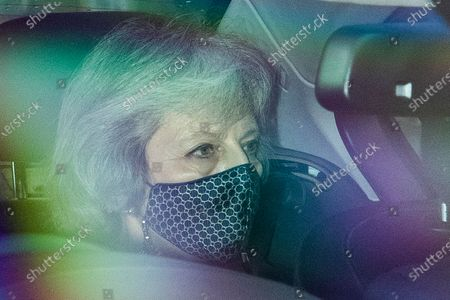 Former prime Minister Theresa May arrives at The Hosues of Parliament .Later today the Police, Crime, Sentencing and Courts Bill 2021 is expected to have its second reading in the House of Commons.