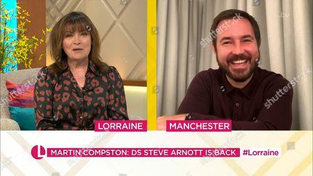 Lorraine Kelly and Martin Compston