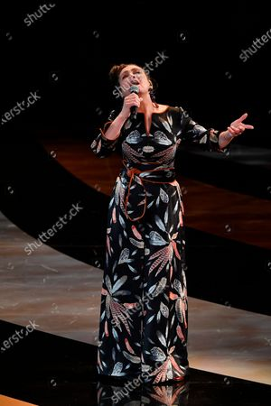French singer Catherine Ringer performs during the 46th Cesar Award ceremony on in Paris