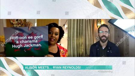 Stock Picture of Alison Hammond, Ryan Reynolds