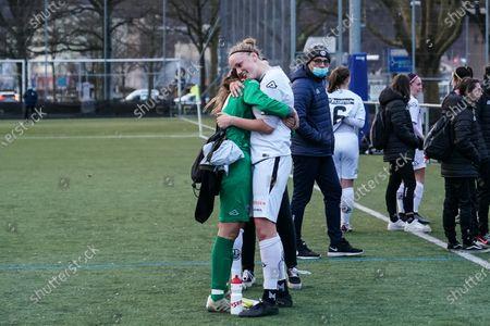 # 14 Ingrid Wilma Maria Andersson (Lugano) and goalkeeper Ines Palmiero Herrera