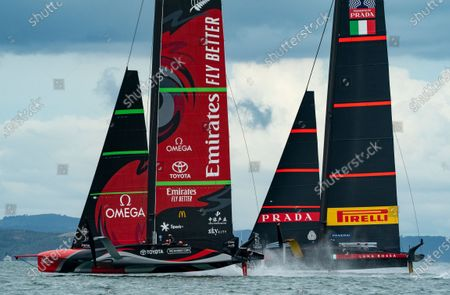 Editorial photo of The 36th America's Cup, Day Six, Sailing, Auckland, New Zealand - 16 Mar 2021