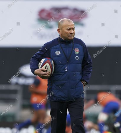 13.03.21 England v France, Six Nations. Picture By Andy Hooper  Eddie Jones