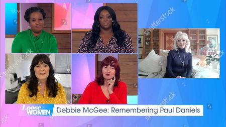 Charlene White, Judi Love, Coleen Nolan, Janet Street-Porter, Debbie McGee