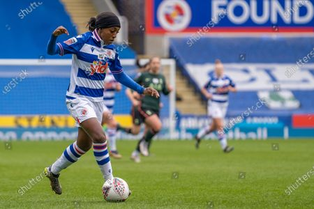 Substitute Danielle Carter (#18 Reading) on the ball