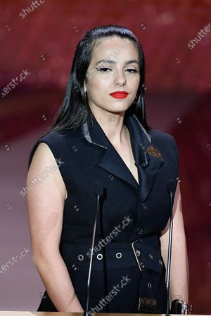 Stock Picture of Hafsia Herzi on stage