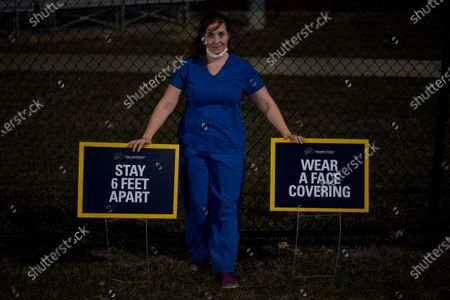 Stock Photo of Brenda Olmos, a nurse practitioner who focuses on the geriatric population and Hispanic patients poses for a photo, in Austin, Texas. Olmos said the real problem with misinformation about the coronavirus is not just bad actors spreading lies - it's people believing false claims because they aren't as comfortable navigating often complex medical findings