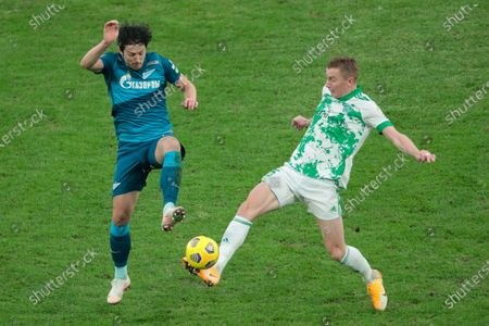 Forward Sardar Azmoun of FC Zenit and midfielder Bernard Berisha of FC Akhmat