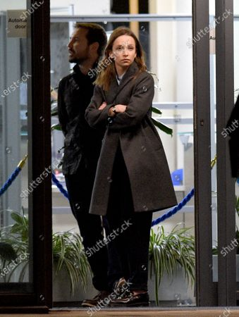 Molly Windsor and Line of Duty star Martin Compston arrive to film series 2 of the BBC drama Traces.