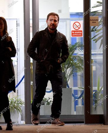 Line of Duty star Martin Compston arrives to film series 2 of the BBC drama Traces.