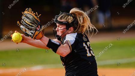 Stock Photo of Sydney Holland of Appalachian State pitches against South Alabama during an NCAA softball game, in Mobile, Ala