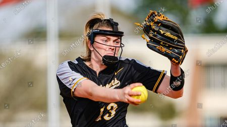 Sydney Holland of Appalachian State pitches against South Alabama during an NCAA softball game, in Mobile, Ala
