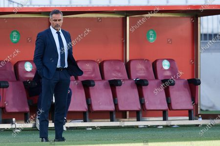 Jose Gomes of Almeria looks during the La Liga Smartbank match between UD Almeria and UD Las Palmas at Estadio Juegos del Mediterraneo on February 14, 2021 in Almeria, Spain. Sporting stadiums around Spain remain under strict restrictions due to the Coronavirus Pandemic as Government social distancing laws prohibit fans inside venues resulting in games being played behind closed doors.