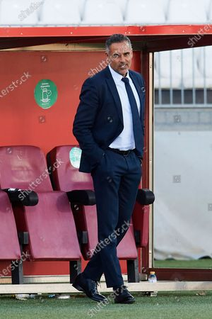 Jose Gomes of Almeria reacts during the La Liga Smartbank match between UD Almeria and UD Las Palmas at Estadio Juegos del Mediterraneo on February 14, 2021 in Almeria, Spain. Sporting stadiums around Spain remain under strict restrictions due to the Coronavirus Pandemic as Government social distancing laws prohibit fans inside venues resulting in games being played behind closed doors.