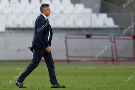 Stock Picture of Jose Gomes of Almeria walks during the La Liga Smartbank match between UD Almeria and UD Las Palmas at Estadio Juegos del Mediterraneo on February 14, 2021 in Almeria, Spain. Sporting stadiums around Spain remain under strict restrictions due to the Coronavirus Pandemic as Government social distancing laws prohibit fans inside venues resulting in games being played behind closed doors.