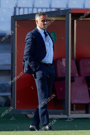Jose Gomes of Almeria during the La Liga Smartbank match between UD Almeria and UD Las Palmas at Estadio Juegos del Mediterraneo on February 14, 2021 in Almeria, Spain. Sporting stadiums around Spain remain under strict restrictions due to the Coronavirus Pandemic as Government social distancing laws prohibit fans inside venues resulting in games being played behind closed doors.